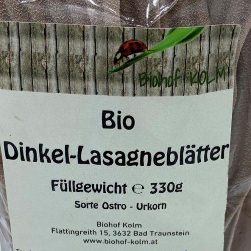 Kolm - Dinkel Lasagneblätter,330g